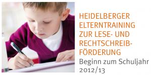 Heidelberger Elterntraining zur Lese- und Rechtschreibförderung