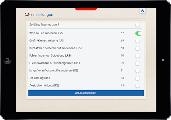 SpeechCare, Legasthenie, LRS, App, Tablet, iOS, Android, Legasthenietraining