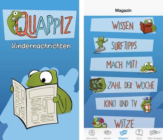 quappiz, app, iphone, ipod, Nachrichten, lesen, Kinder