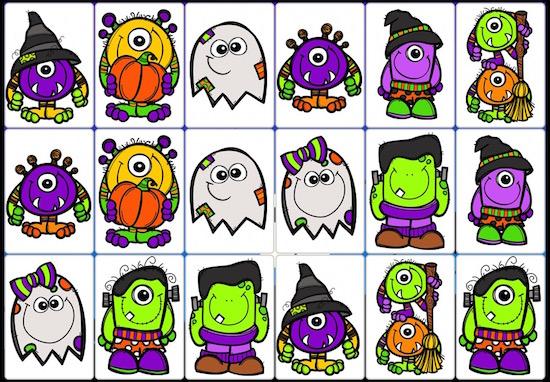 Halloween, optisches Gedächtnis, räumliche Wahrnehmung, Legasthenie, Legasthenietraining, AFS-Methode, DVLD